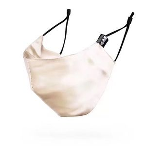 Accessories - Washable Ivory Silk face Cover Mask with 7 Filters